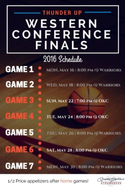Thunder playoff schedule