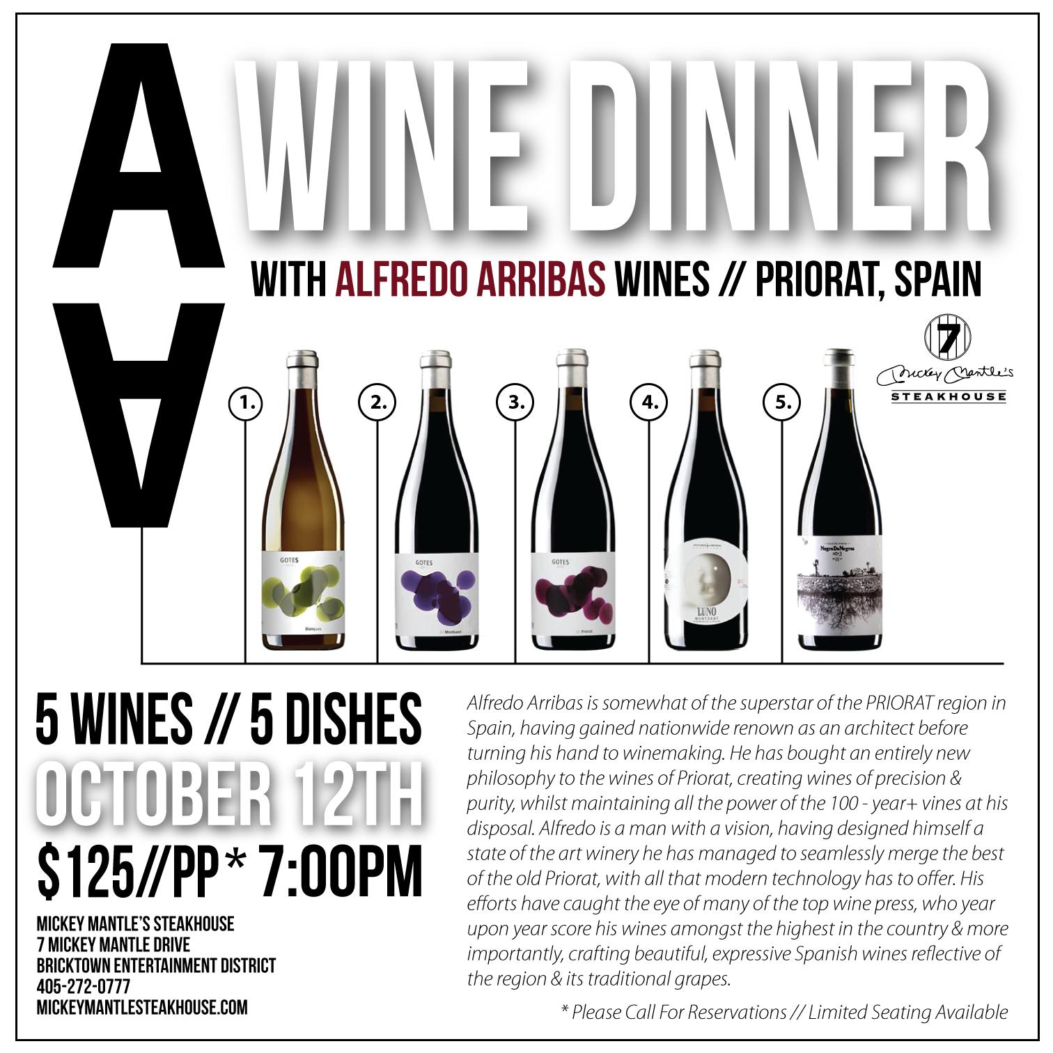 Alfred Arribas Wine Dinner - Best Steakhouse OKC