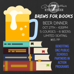Brews for Books Beer Dinner
