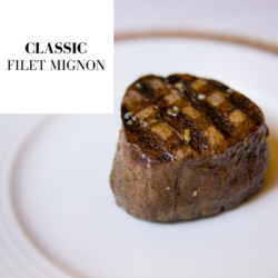 plated classic filet dish