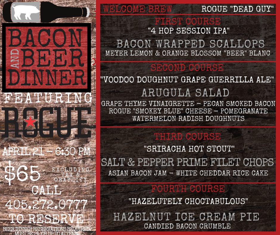 Bacon & Beer Dinner Menu - Rogue
