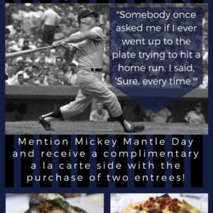Mickey Mantle Day! July 7th
