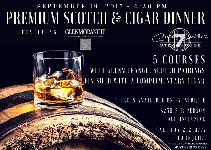 Glenmorangie Scotch & Cigar Dinner Promo