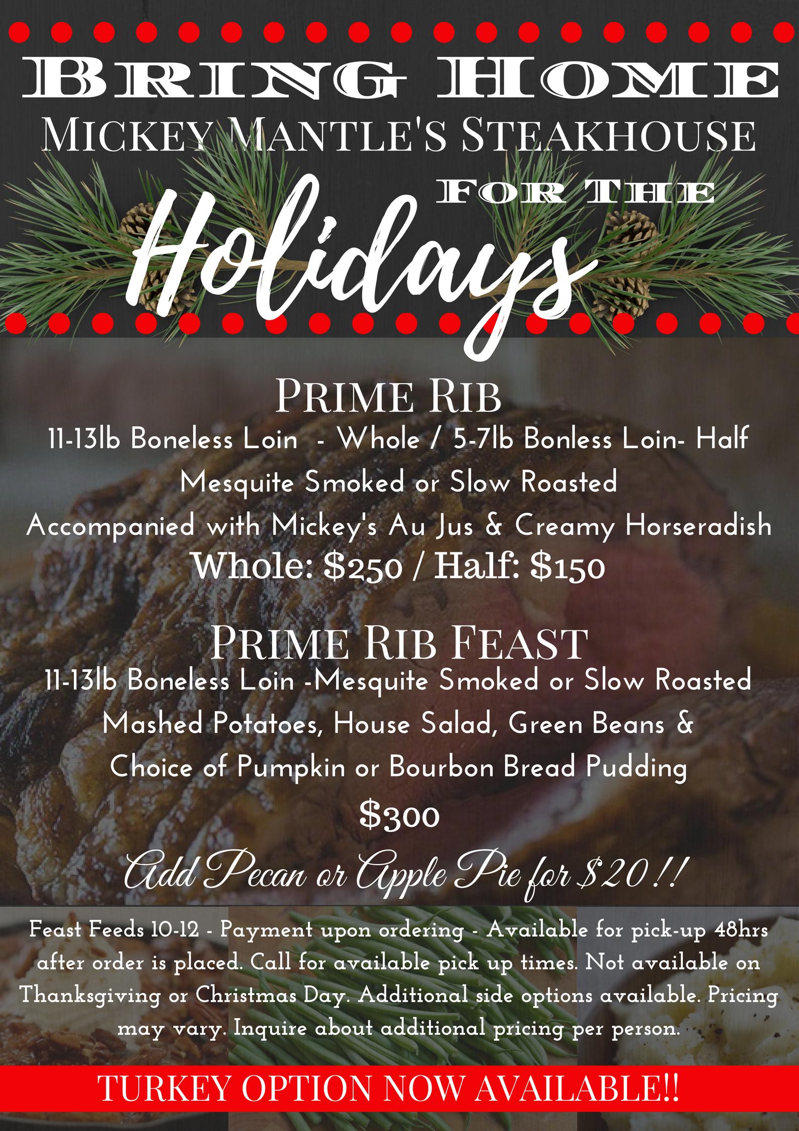 Prime Rib Feast